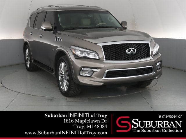 Certified Pre-Owned 2015 INFINITI QX80 Theater Driver Assistance and AWD